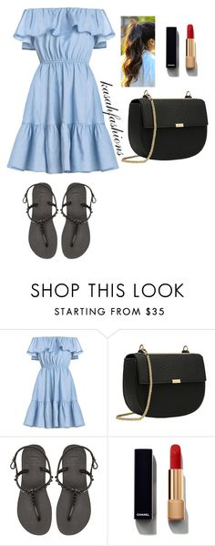 """""""flip flop casual"""" by kasahfashions on Polyvore featuring Havaianas and Chanel"""