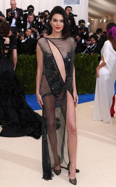 Kendall Jenner from Met Gala 2017: Best Dressed Stars  In true Kendall fashion, the supermodel is scantly-clad in this sparkling cutout number.