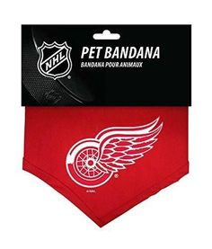 Detroit Red Wings NHL Sports Team Logo Dog Bandana