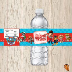 Printable Paw Patrol Water Bottle Labels  by BrightOwlCreatives, $3.00