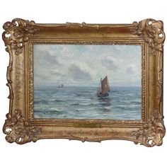 "W. Wyllie Oil Painting on Canvas ""off Southend"", Signed available for sale at Atelier1505.com"