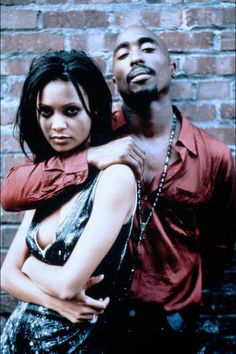 Tupac Shakur & Thandie Newton.. This picture is sooo awesome. Why is this my first time seeing this? smh
