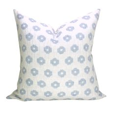 Schumacher Timur Weave pillow cover in Sky - white background