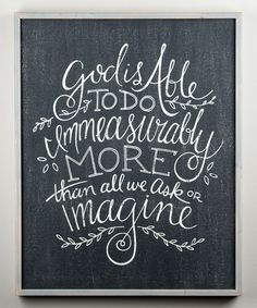 Look what I found on #zulily! 'Immeasurably More' Wall Sign #zulilyfinds