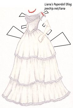 Liana's Paper Doll Blog » Margaret Hale's White Gown from Elizabeth Gaskell's North and South