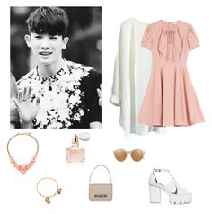 Monsta X's (몬스타엑스's) Wonho- Pinky Pink by dropletsofkaisoo on Polyvore featuring polyvore, fashion, style, RED Valentino, Fendi, Kate Spade, Alex and Ani, Linda Farrow and Guerlain