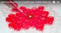 SCG VIRALS: How to Make Jell-o Bits Using Bubble Wrap Gummi bits using bubble wrap?? Personally, we'd rather just burst the bubbles but neat idea nevertheless..