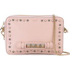 Salar studded clutch (22.525 RUB) ❤ liked on Polyvore featuring bags, handbags, clutches, pink, salar, pink clutches, studded handbags, pink purse and pink studded handbag