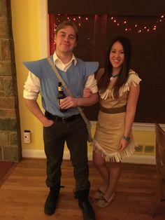 DIY Pocahontas & John Smith Costume #diy #pocahontas #johnsmith