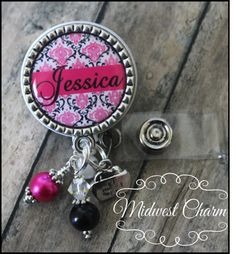 This listing is for 1 personalized retractable badge reel. Please let me know what NAME or WORD or LETTERS you would like on your image. Any of