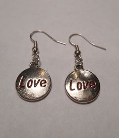 Silver Circle Of Love Dangle Earrings by MysticMountainJewels on Etsy
