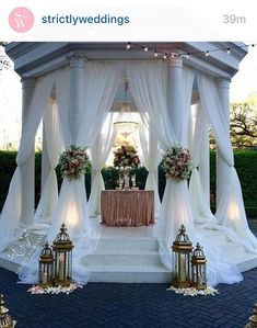 Gazebo Draping By Firefly Ambiance