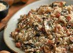 Risotto aux champignons, à la pancetta et au parmesan