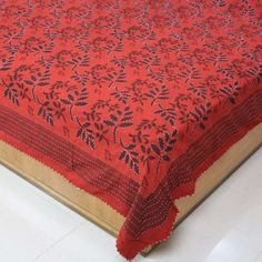Amazon.com: Decor Indian Bed Cover Queen Block Print Cotton Handcrafted by Artisan 86 x 96 Inches: Home & Kitchen