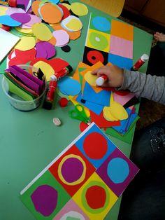 Kadinsky For Kids, Painting For Kids, Art For Kids, Projects For Kids, Art Projects, Diy Pour Enfants, Kandinsky Art, Montessori Art, Toddler Art