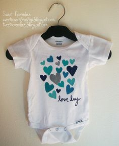 Cute Onsie to make for a baby shower gift
