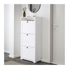 BRUSALI Skoskåp 3 fack - vit - IKEA