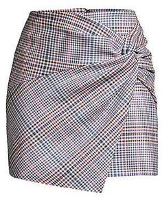 Parker Montaigne Plaid Twist Front Miniskirt In Peggy Plaid Cheap Dresses, Casual Dresses, Fashion Dresses, 60s Dresses, Vintage Dresses, Flapper Dress Cheap, Check Mini Skirt, Skirt Patterns Sewing, Plaid Fashion