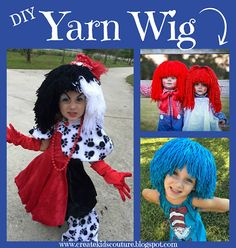 Create Kids Couture: Day 2: Yarn Wig Tutorial