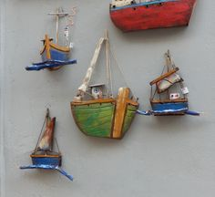 Driftwood boats in greece