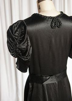 Whisper the Truth dress | vintage 30s gown | 1930s black silk dress | vintage 30s evening gown | black / red vintage formal dress