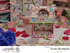 Yumi's Botanical Tea birdhouse has many tags for memory keeping and journaling. Love it! #graphic45