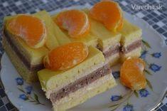Tvarohovo-marhuľové rezy s mandarínkou (fotorecept)