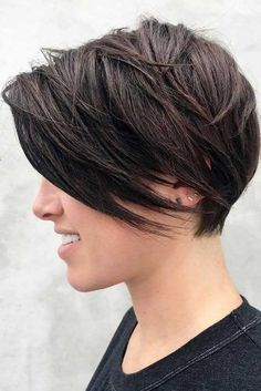 Easy Short Hair With Bangs Styles ★ See more: http://lovehairstyles.com/short-hair-with-bangs/