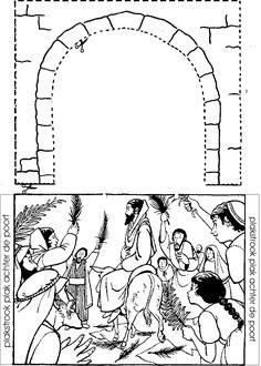 entrada triunfal en jerusalem. el arcose recorta y se pega sobre la  imagen