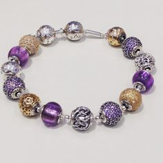 Pandora Jewelry OFF! New Pandora Bracelet, Pandora Jewelry Box, Pandora Beads, Pandora Rings, Pandora Charms, Charm Bracelets, Pandora Essence Collection, Purple Jewelry, Couture