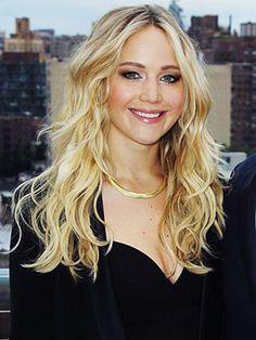 Jennifer Lawrence is killing it  with her effortless blonde waves.