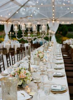 Beautiful Virginia wedding table: http://www.stylemepretty.com/virginia-weddings/charlottesville/2014/03/31/blush-pink-wedding-at-keswick-hall/ | Photography: Jen Fariello - http://www.jenfariello.com/