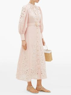 Freja broderie anglaise-linen shirtdress | Zimmermann | MATCHESFASHION AU