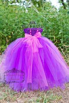 Rapunzel Inspired Tutu Dress by princesscreek on Etsy, $38.00