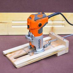Adjustable Wood Fluting Jig. #wood #woodworking