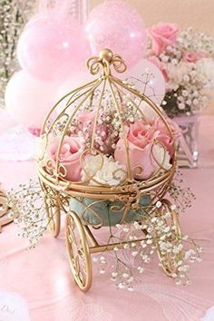 Inspired by Disney's Fairytale Wedding Cinderella's Carriage Coah Pumpkin table centerpiece: disney wedding Disney Diy, Disney Theme, Disney Ideas, Disney Cars, Walt Disney, Wedding Centerpieces, Wedding Table, Wedding Decorations, Wedding Day