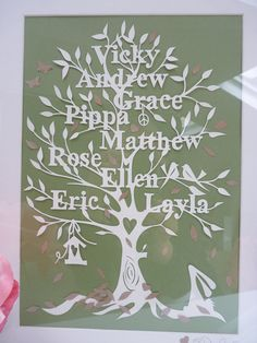 Paper Cut Family Tree Template Idas Ponderresearch Co