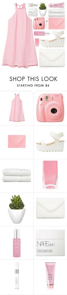 """""""my girl (top set)"""" by charli-oakeby ❤ liked on Polyvore featuring MANGO, Fujifilm, Linum Home Textiles, Nails Inc., Pomax, Neiman Marcus, Dr. Sebagh, NARS Cosmetics, Christian Dior and By Terry"""