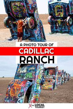 Cadillac Ranch is a Route 66 Attraction Worth the Stop | The Local Tourist Usa Travel Guide, Travel Usa, Canada Travel, Travel Guides, Travel Tips, Route 66 Road Trip, Road Trip Usa, Route 66 Attractions, Texas Travel