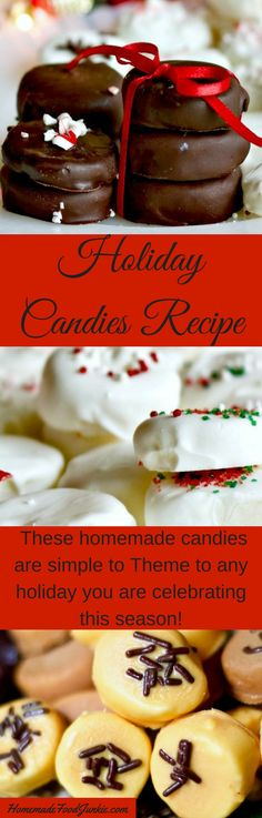 Delicious, easy homemade candies simple to decorate and theme. Use any candy melts, topping and flavoring you prefer. This is a great kids project and foodie gift idea!