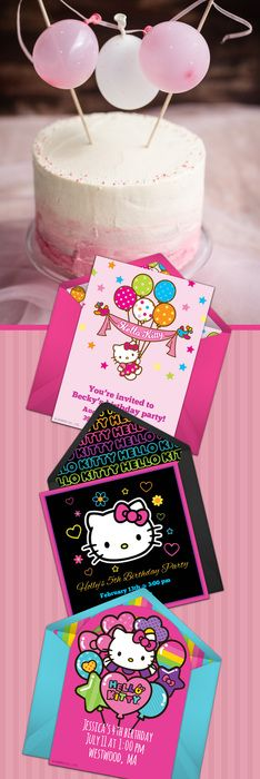 Paper invites are too formal, and emails are too casual. Get it just right with online invitations from Punchbowl. We've got everything you need for your Hello Kitty themed birthday party.   http://www.punchbowl.com/hellokitty/express/?utm_source=Pinterest&utm_medium=34.4P