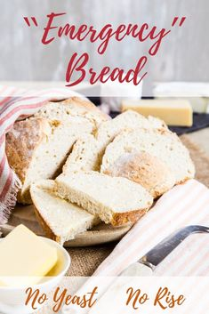 Learn how to make this easy no yeast bread Only 4 ingredients in the recipe and 5 minutes of work for beautiful crusty soft and tender homemade bread bread noyeast wheat food homemade via fussfreeflavour Easiest Bread Recipe No Yeast, Yeast Bread Recipes, Baking Recipes, Homemade Bread Without Yeast, Brewers Yeast Bread Recipe, Bread With No Yeast, No Yeast Rolls, Simple Bread Recipe, Bread Recipes