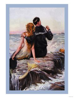 Sailor and Mermaid ~ Fine-Art Print - Vintage Wartime and Political Art Prints and Posters - Vintage Wartime and Political Pictures
