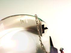 Vintage Plain Wide Heavy Bangle Bracelet Hinged by MinimalStore, $99.00