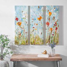 Floral Connected Canvas Art Prints, Set of 3 | Kirklands