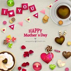 Mães cartão bonito do dia