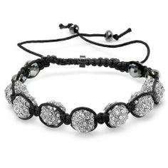 Beaded Bracelet Mens Ladies Unisex Hip Hop Style Pave Seven Crystal 11mm White Disco Ball Faceted Bead Adjustable DazzlingRock Collection. $14.99. It is a trendy accessory and makes a perfect gift for any occasion.. Get most bang for your buck. The length is adjustable. This is a unique Buddhist inspired beaded hip hop style bracelet.. This bracelet is iced out and has 11 mm disco beads