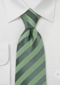 Striped Green Designer Silk Tie