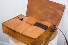 Handmade leather bag at http://www.etsy.com/listing/115482585/handmade-leather-medium-satchel