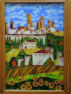Картина панно рисунок Витраж Сан Джиминьяно Стекло